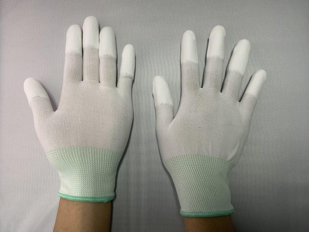 găng tay phủ PU chống tĩnh điện